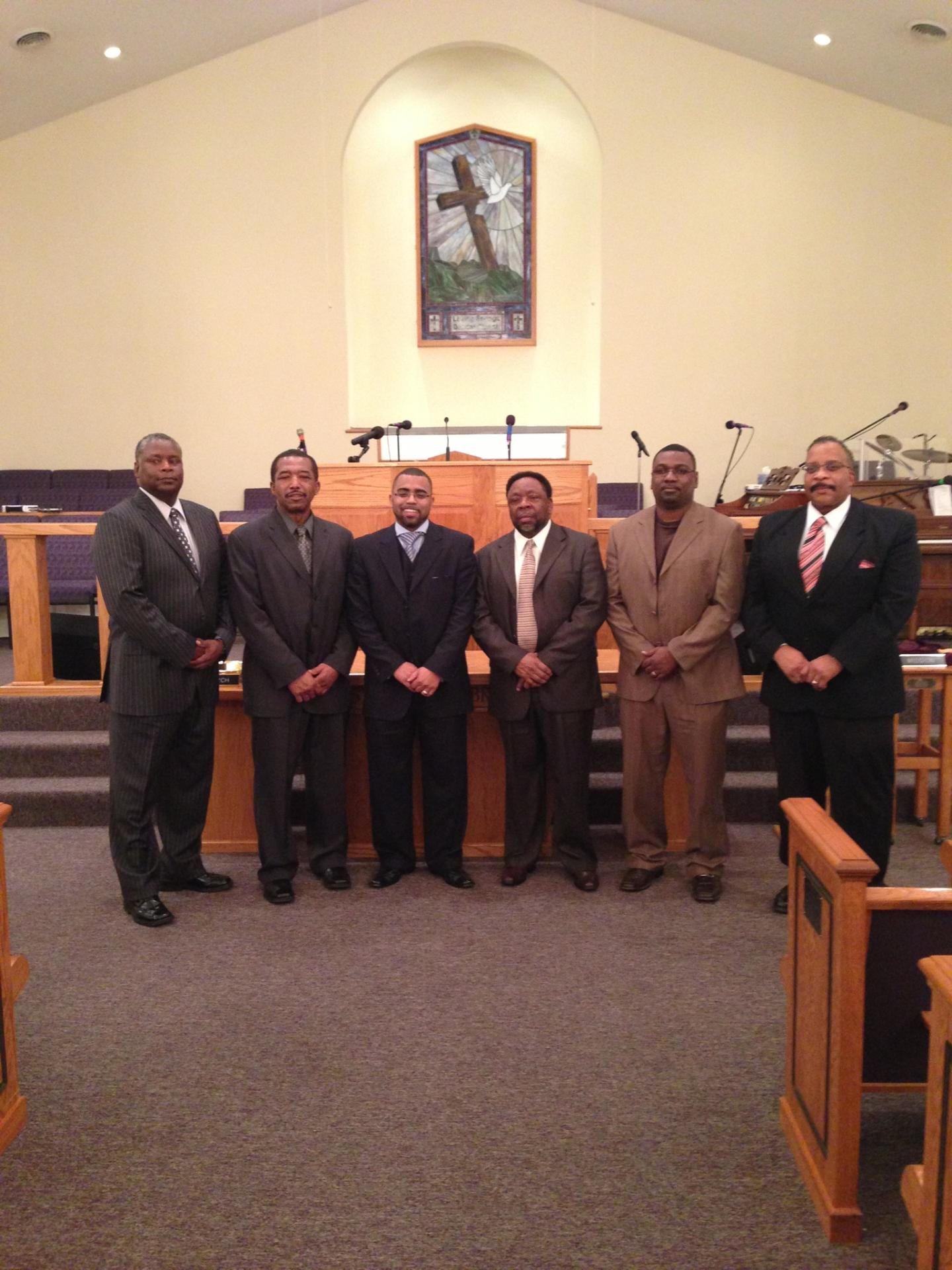 Pastor with Deacons of The Church